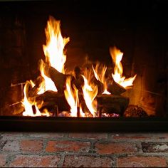 Nothing like a crackling fire!