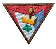 Letterboxing badge. It's crafty and fun. (Your own take in the theme would be great!)