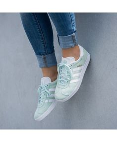 the latest f29a1 6e9dd Adidas Gazelle Womens Shoes In Green White Adidas Shoes Women, Adidas  Gazelle Women, Nike