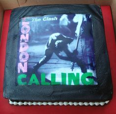 The Clash - London Calling cake The Clash, London Calling, Lunch Box, Birthday, Cake, Pastries, Pie Cake, Pastel, Bento Box