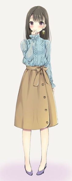 Fashion Girl Anime Inspiration 37 Ideas – About Anime Anime Girl Dress, Manga Anime Girl, Anime Girl Drawings, Anime Neko, Kawaii Anime Girl, Anime Girls, Cute Manga Girl, Anime Oc, Pretty Anime Girl