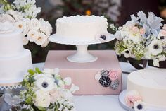 Gorgeous cakes and florals.