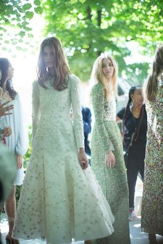 Christian Dior Fall/Winter 2015-2016 Couture, backstage at Paris Fashion Week, photo by Kevin Tachman for Vogue.