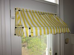 New kitchen door blinds curtain rods 15 ideas Porch Awning, Diy Awning, Fabric Awning, Kitchen Door Blinds, Kitchen Valence, Curtain Rod Hooks, Window Canopy, Room Window, Window Awnings
