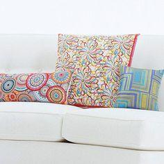 Bold Scarf Throw Pillows - fun idea
