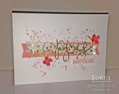 Stampin' Up! - Crazy About You, Hello You Thinlits, Gorgeous Grunge, Gold Soiree DSP, Pinkies Bloghop - ZoKris