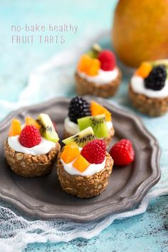 (No Bake) Healthy Breakfast Fruit Tarts