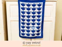 Vintage Ulster Teapots Tea Towel - Retro, Vintage China, Glassware, Kitchenalia, fabrics and books - yay retro!