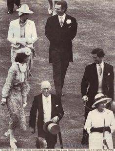 /****I've no idea who is in this picture besides Charles, The Queen, and perhaps that's Diana in the third group back.
