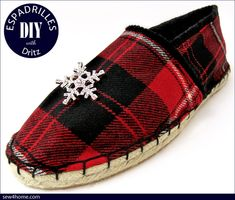 Holiday DIY Espadrilles with Dritz | Sew4Home