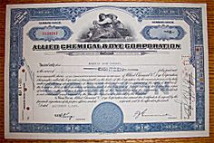 1950 Allied Chemical & Dye Corp Stock Certificate (Image1)