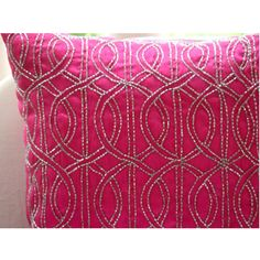 Handmade  Fuchsia Pink Decorative Pillows Cover by TheHomeCentric