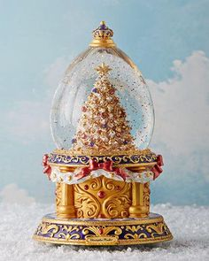 Shop Gilded Wonder Snowglobe from Christopher Radko at Horchow, where you'll find new lower shipping on hundreds of home furnishings and gifts. Christmas Music Box, Mary Christmas, Christmas Snow Globes, Magical Christmas, Christmas And New Year, Christmas Time, Disney Snowglobes, Snow Globe Crafts, Musical Snow Globes