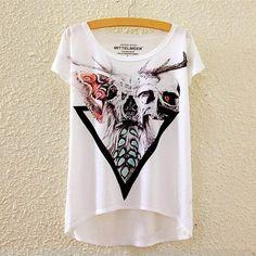 Cute Harajuku Fashion Style Casual short sleeve T-shirts in 22 variations