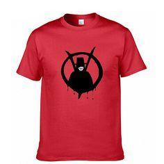 V for Vendetta Fashion Print 100% Cotton Men's T-shirt