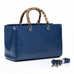 Wholesale Designer Leather Tote Bags RLLH658 Blue