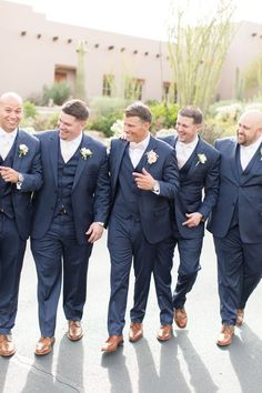 Blush Four Seasons Scottsdale wedding with gorgeous wood and floral alter and fun beer burro. Groom wore a navy tuxedo and blush bowtie while groomsmen wore a matching navy tux and blush ties. Photographed by wedding photographers Amy and Jordan Demos Blush Groomsmen, Groomsmen Attire Navy, Groom And Groomsmen, Navy Tux Wedding, Groom Tuxedo Wedding, Wedding Attire, Wedding Tuxedos, Gatsby Wedding, Gothic Wedding
