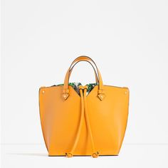 Image 1 of MINI TOTE WITH INTERIOR PRINT from Zara