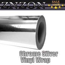 "8""x 60"" Silver Chrome Mirror Vinyl DIY Wrap Film Roll Sheet Sticker Air Free"