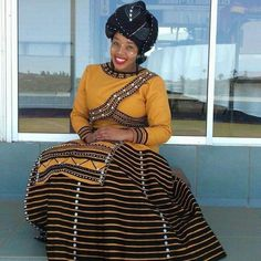 xhosa attire 2019 for African girls - fashion ShweShwe 1 South African Dresses, South African Traditional Dresses, African Dresses For Women, African Print Dresses, African Print Fashion, African Attire, African Fashion Dresses, Traditional Outfits, Traditional Wedding