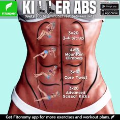 Tutorials Gym Tips on Total Abs and more routines, tag som. -Fitness Tutorials Gym Tips on Total Abs and more routines, tag som. Killer Ab Workouts, Killer Abs, Gym Workouts, At Home Workouts, Workout Exercises, Total Ab Workout, Tummy Exercises, Daily Exercise Routines, Workout Abs