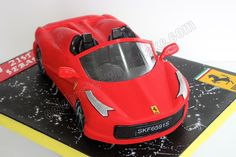 18 Trendy Ideas For Ferrari Cars Cake Car Cakes For Boys, Cakes For Men, Ferrari Cake, Realistic Cakes, Sushi Cake, Biscuit, Teen Cakes, Minnie Mouse, Creative Cakes