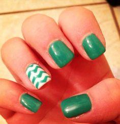 St Patricks day nails 2013