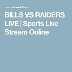 BILLS VS RAIDERS LIVE | Sports Live Stream Online
