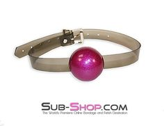 2408A Sultry Night Grey Luxe PVC Ball Gag, Cotton Candy Pink  Incredible and unique, our Sultry Grey Luxe PVC strap ball gags are absolutely wonderful. (You know it's going to be wonderful to be bound by Grey! *wink*) Unfortunately, I don't think the photos quite do justice to our sexy Grey Luxe PVC, but that just means you're going to LOVE the way your new bondage gear looks in person even more than you love it here in the photos!