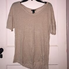 Blush H&M tee Size small knits linen fabric H&M Tops Tees - Short Sleeve