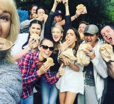 A HUGE thank you to @burgerfuel for our beautiful lunches and taking all our weird requests #behindthebehindscenes #auckwardlove #webbys #webseries #burgerfuelnz #burgerfuel #thankyou #nomnom #theAteam #vegan #lowcarb #vego by lucindajanehare
