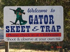 Gator Skeet Trap Bunker Shooting Shotgun FiveStand.  5202 Northeast 46th Avenue  Gainesville, FL 32609  (352) 372-1044