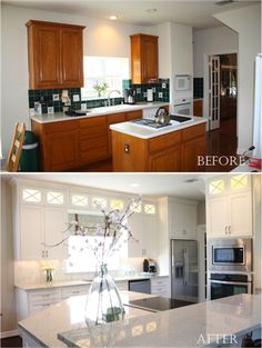 Great before and after kitchen.
