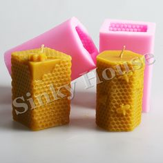 promo honeycomb silicone molds clay candle molds for diy candle free shipping silicone candle soap #silicone #rubber #mold