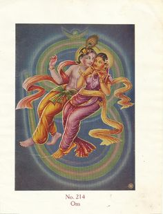 Heritage of India: Radha and Krishna vintage art prints