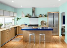 This is the project I created on Behr.com. I used these colors: CLEAR AQUA(P440-2),