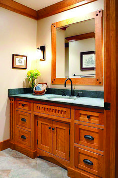 custom bathroom cabinets by Mullet Cabinet in Millersburg, Ohio.maybe Arts and Crafts instead of shabby chic? Comedor Shabby Chic, Baños Shabby Chic, Cocina Shabby Chic, Shabby Chic Dining, Shabby Chic Living Room, Shabby Chic Interiors, Shabby Chic Kitchen, Shabby Chic Homes, Shabby Vintage