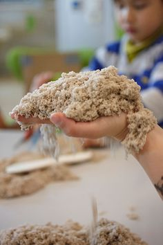 I played with this stuff with Oliver today. It's absolutely amazing! Kinetic Sand - 11 lb