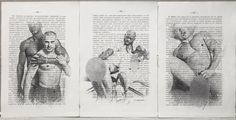 Gay erotic poster/white & black mens love/Print 3 pages antique 1914 German book #handmade #sexy