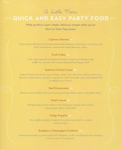The Ultimate New Year's Eve Party Food Book ~ Tiny Food Party!