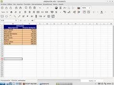 He completado las hojas de Artículos, con datos inventados, cuidando la presentación (las  celdas de los precios estén en euros, etc).