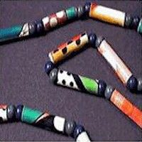 Make Magazine Bead Jewelry Craft- maybe make fewer beads and use to make keychain/back pack tag?