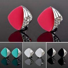 Ventas calientes Multicolor aretes de diamantes de imitación resina moda del partido de coctel pendientes 2015 ventas al por mayor