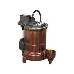 "Liberty Pumps 257 Cast Iron Automatic Submersible Sump/Effluent Pump has a 10"" power cord that can be extended up to 25"" with a replacement cord for those who prefer not to change their home/commercial establishment's wiring to support the sump pump"