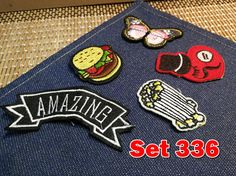 Pack of Embroidery Patches Towel Patches Sew on Patches