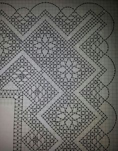 Diseño de Encarna Caparrós Bobbin Lace Patterns, Weaving Patterns, Lacemaking, Crochet Lace, Textile Art, Hello Kitty, Diy And Crafts, Projects To Try, Crafty