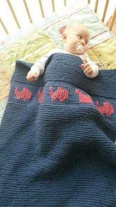 Granny's blanket,  couverture tricot bébé