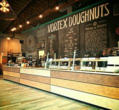 Vortex Doughnuts serving up 1000 Faces Coffee in Asheville, NC