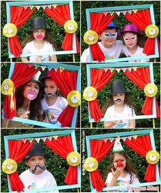 Интересная идея для фотографирования гостей на празднике (фотозона)
