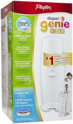 Playtex Diaper Genie Elite Pail & Refill Bundle - the new mom on your holiday list will thank you!